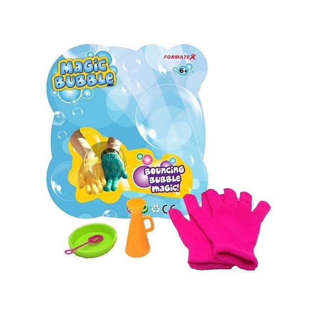Magické bubliny s rukavicemi