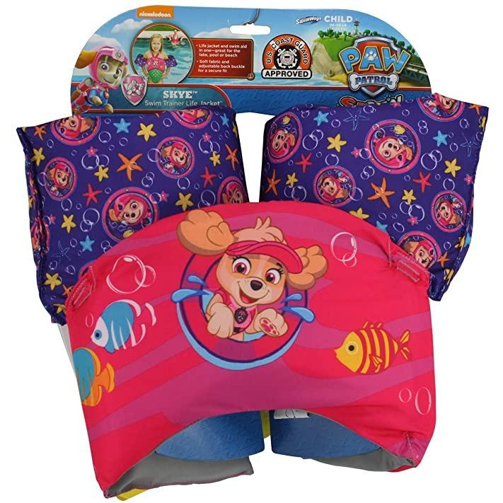 Plavací pás s rukávky Tlapková patrola Skye Swimways