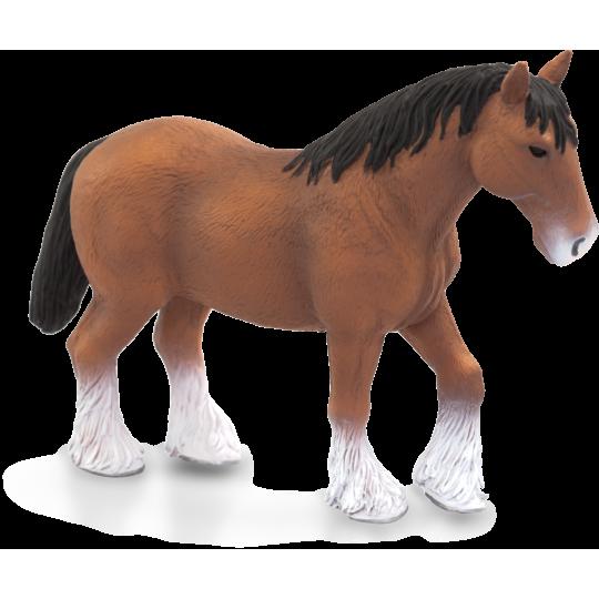 Brązowy koń rasy Clydesdale ANIMAL PLANET