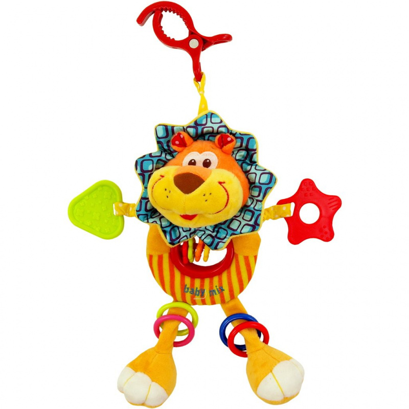 Dětská plyšová hračka s chrastítkem Baby Mix lvíče