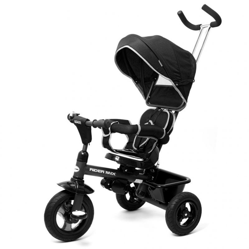 Dětská tříkolka Baby Mix 5v1 RIDER 360° černá