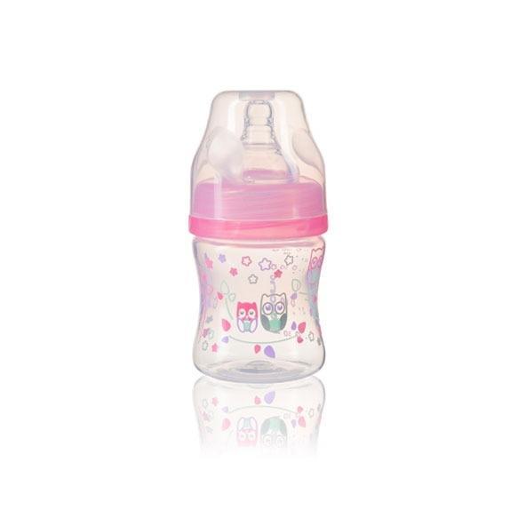 Antikoliková lahev se širokým hrdlem - růžová