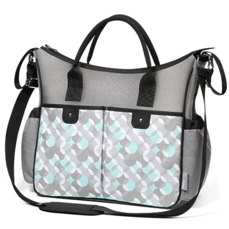 Štýlová taška na kočík BASIC SO CITY Baby Ono šedo tyrkysová