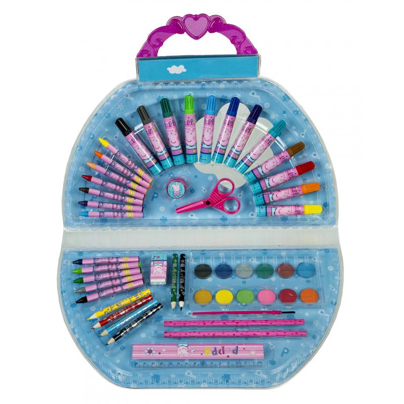 Sada potřeb do školy v kufříku Prasátko Peppa