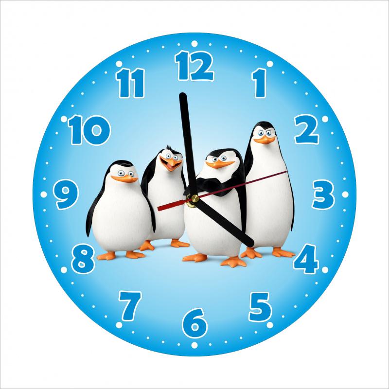 Dětské hodiny Tučňáci