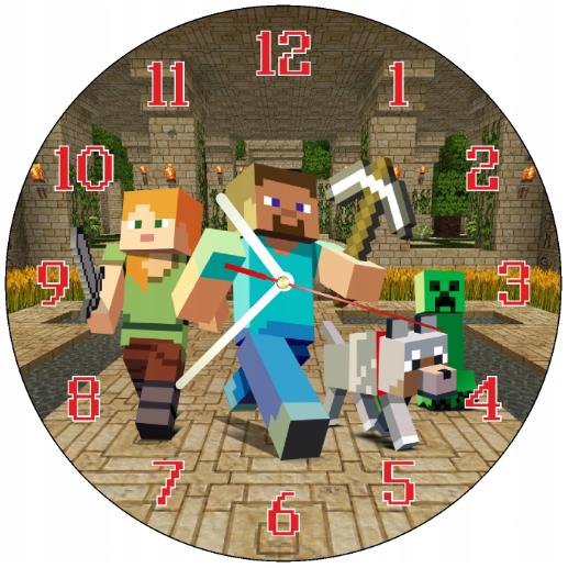 Dětské hodiny Minecraft