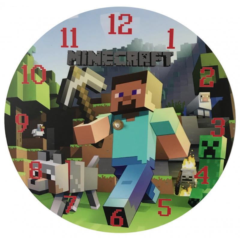Dětské hodiny Minecraft 1