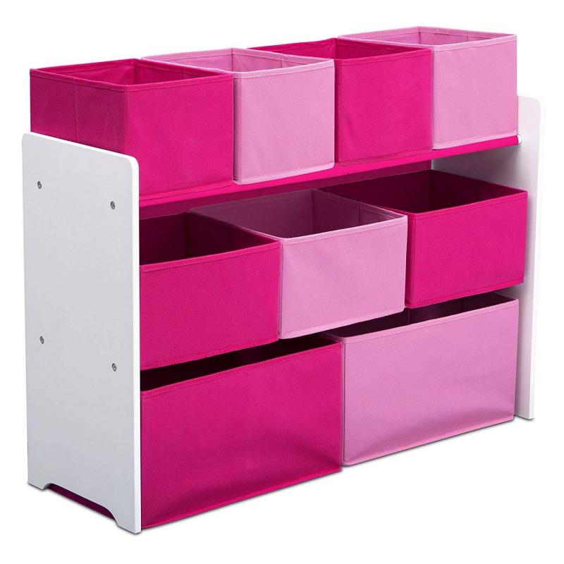 Organizér na hračky bielo-ružový