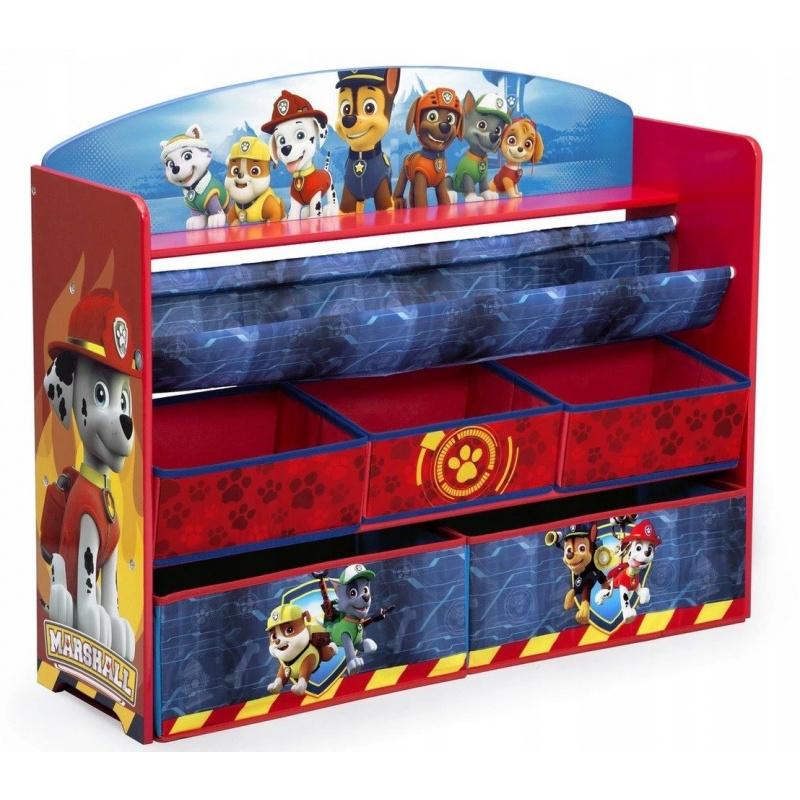 Organizér na hračky a knižky Tlapková Patrola - veľký