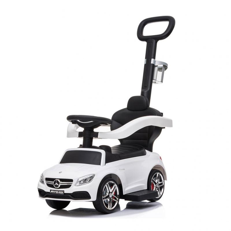 Odrážedlo s vodící tyčí Mercedes Benz AMG C63 Coupe Bayo white