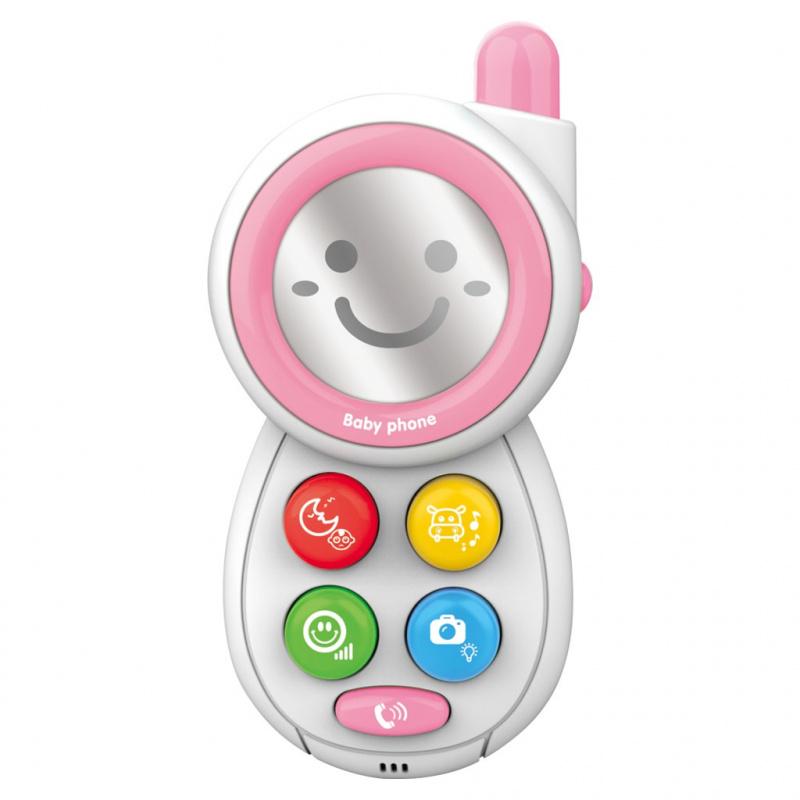 Detský telefónik so zvukmi BAYO pink