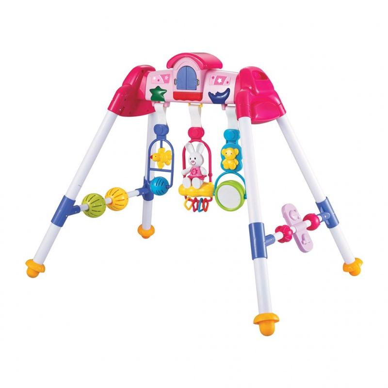 Dětská hrající edukační hrazdička BAYO premium pink
