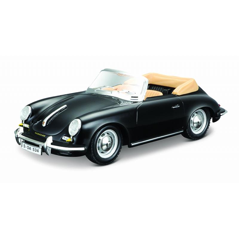 Bburago 1:24 Porsche 356 B Cabriolet Black