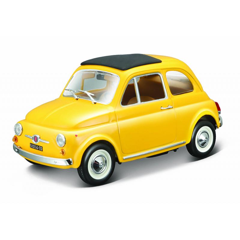 Bburago 1:24 Fiat 500 F 1965 Żółty