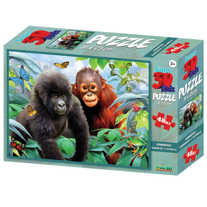 Puzzle 3D 48 dílků Kamarádi z džungle