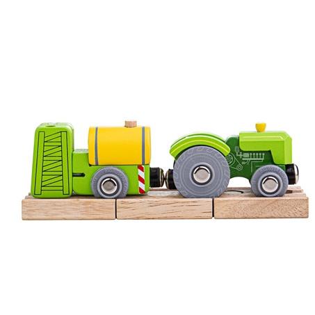 Ciągnik szynowy Bigjigs z zieloną bocznicą