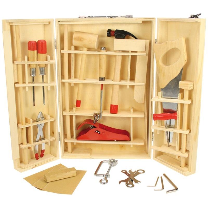 Bigjigs Toys dřevěné hračky - Kufřík s nářadím Junior