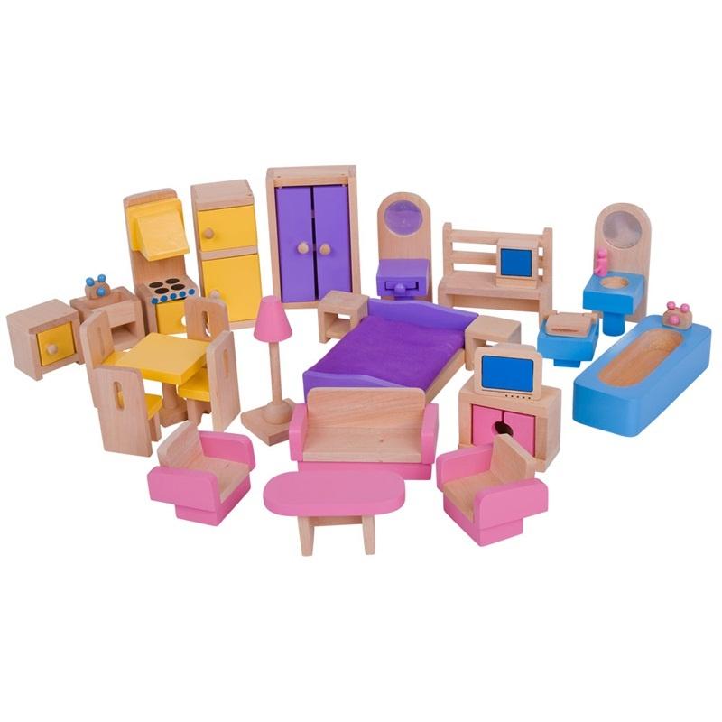 Dřevěný nábytek do domečku pro panenky Bigjigs