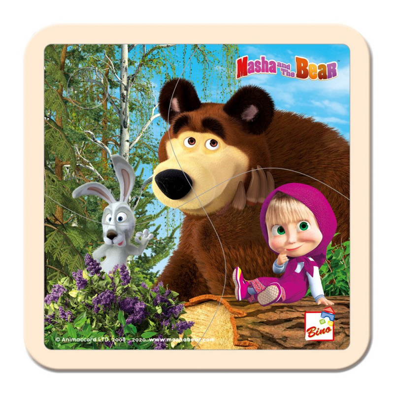 Bino Máša a Medvěd - Puzzle 15x15cm