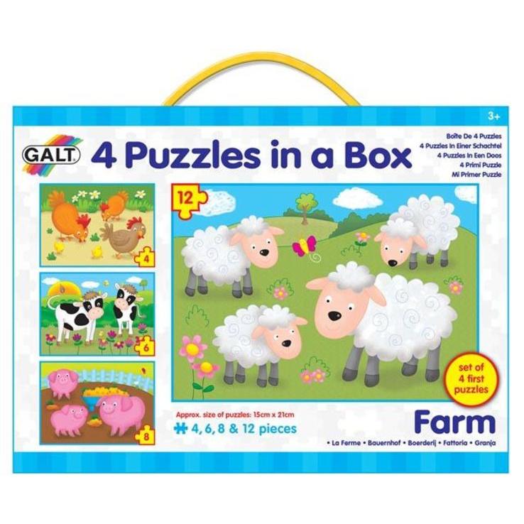 4 Puzzle w pudełku - Farma