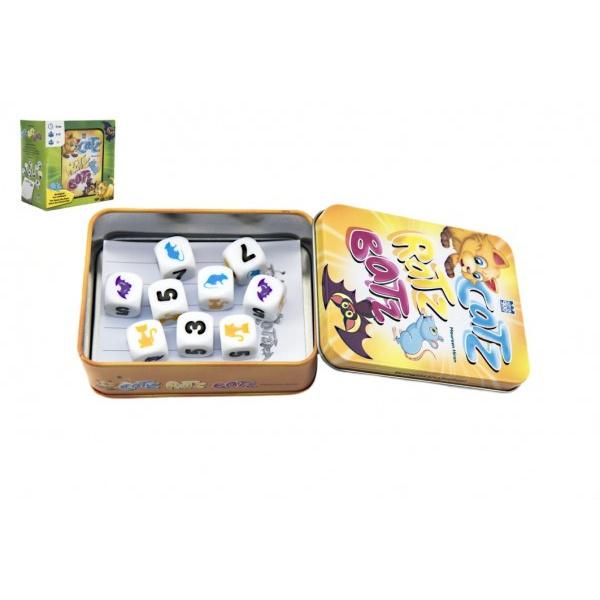 Catz-Ratz-Batz společenská hra v plechové krabičce 8x10x4cm v krabičce 13x13x8cm