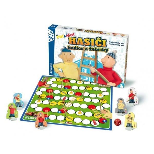 Hasiči hadice a žebříky Pat a Mat společenská hra v krabici 34x23x4cm