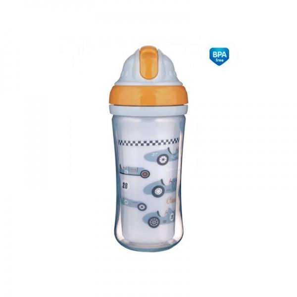 Sportovní láhev se slámkou Racing - sv. modrá, 260 ml