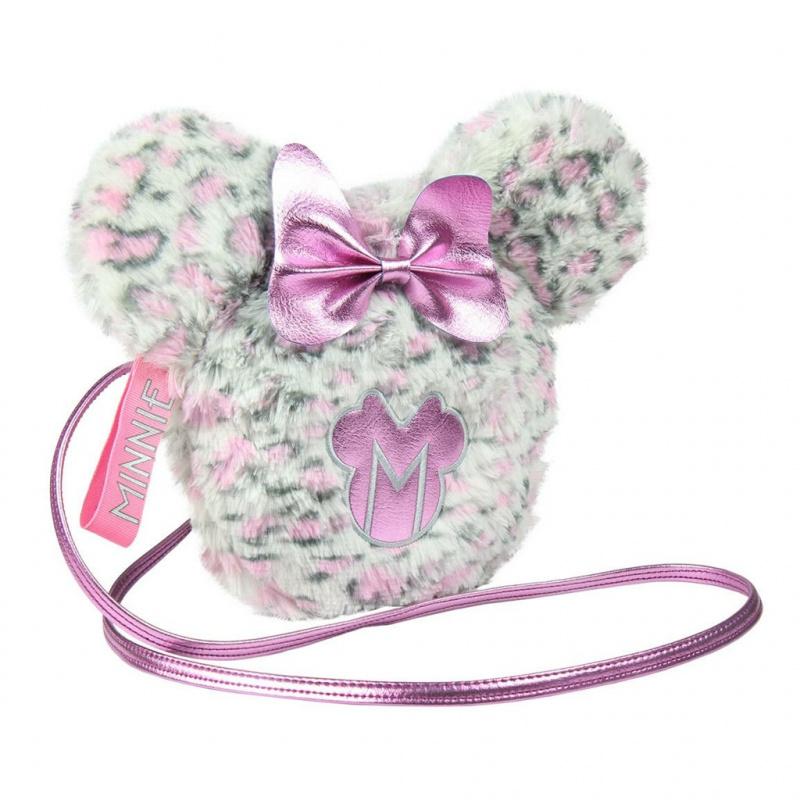 Módna kabelka plyšová s mašľou a ušami Disney Minnie