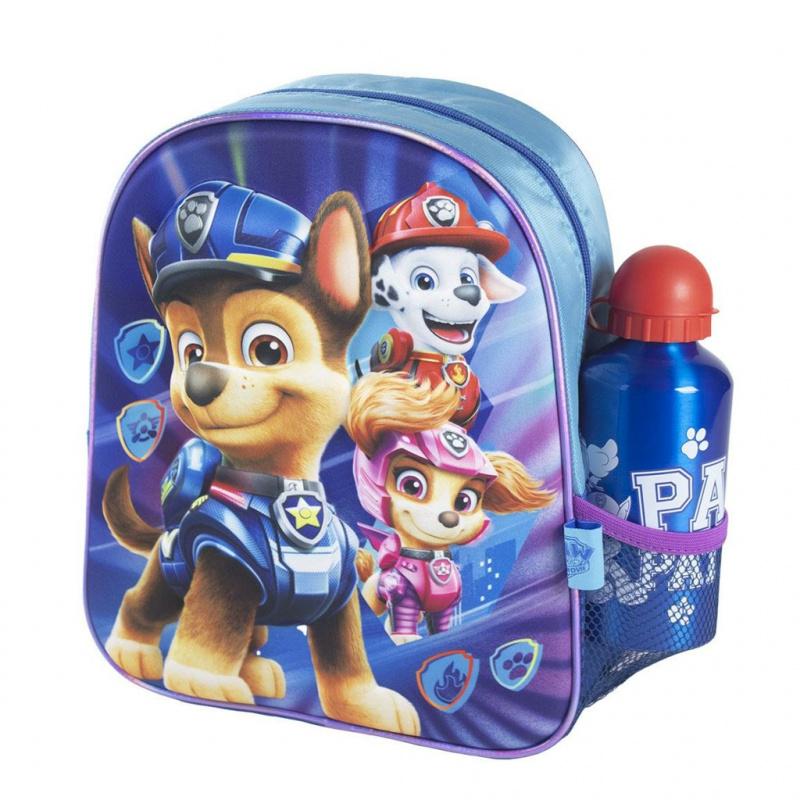 Dětský batůžek 3D s lahví na pití Tlapková patrola