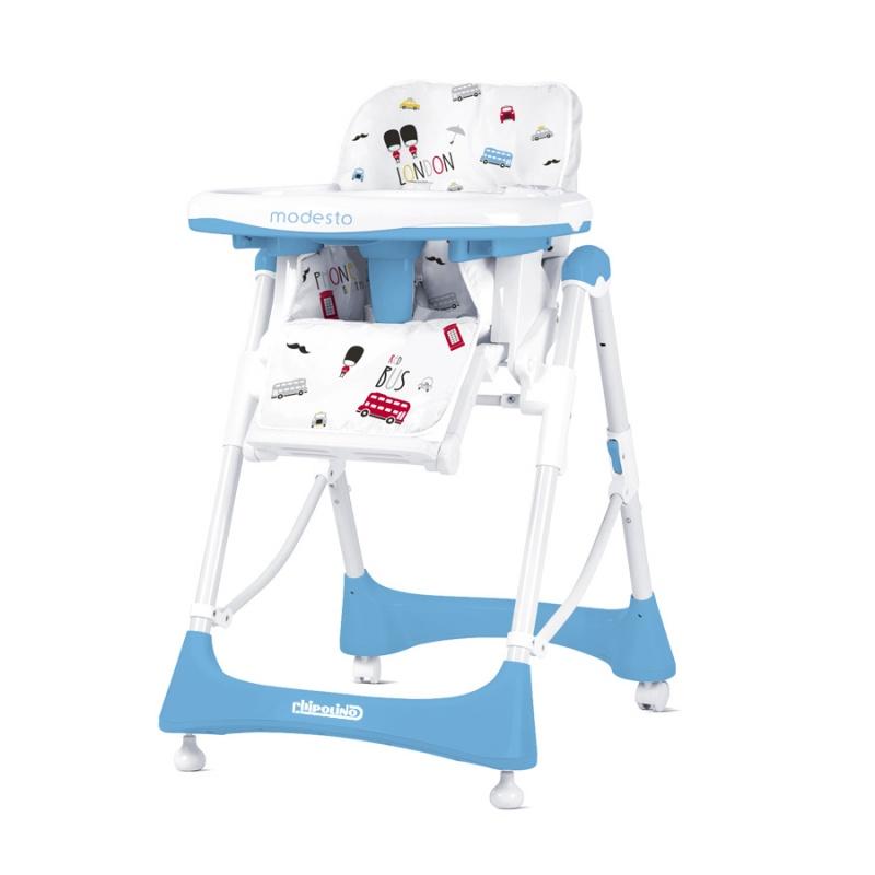 CHIPOLINO Dětská jídelní židlička Modesto - Baby blue