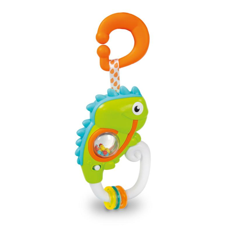Elektronické hrkálka s úchytom - Chameleon