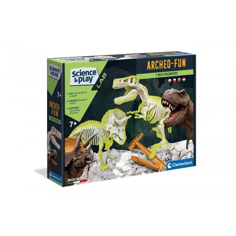 Vykopávky - T-Rex + Triceraptos