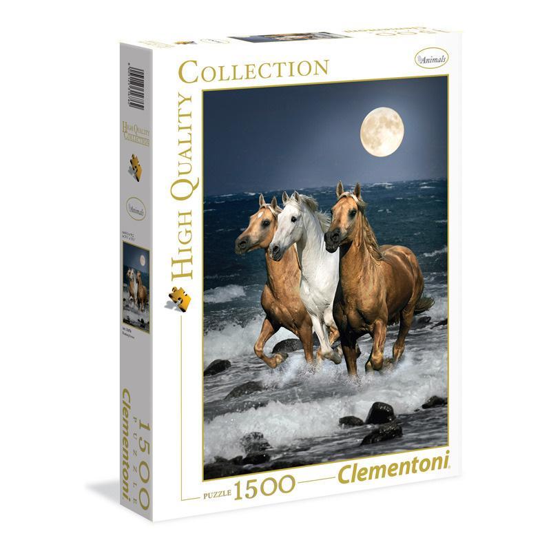 Puzzle 1500 dílků Koně