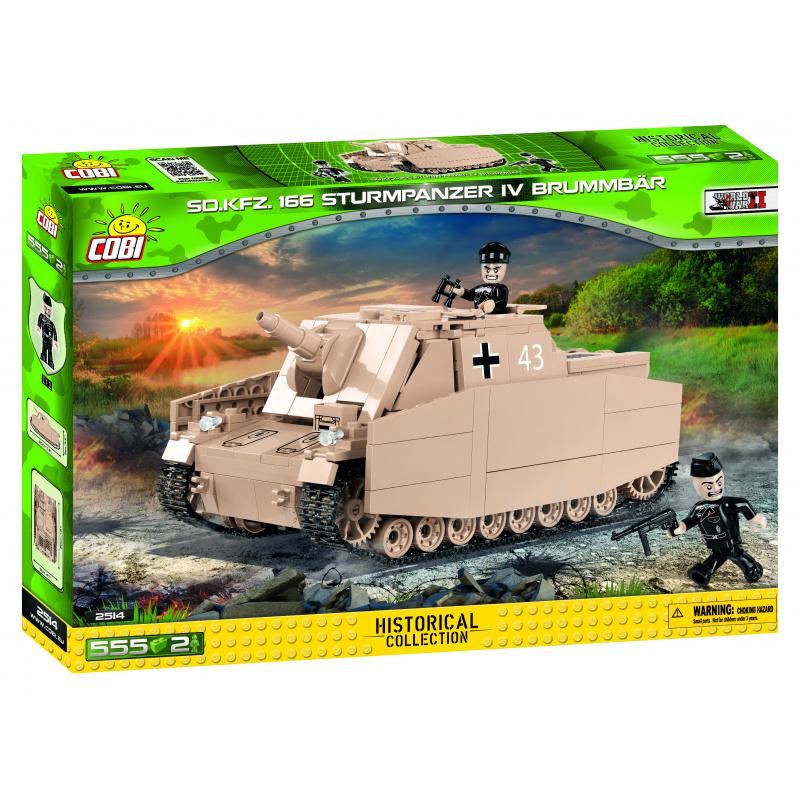 Cobi 2514 SMALL ARMY – II WW Sturmpanzer IV Brummbar Sd Kfz 166, 555 k, 2 f