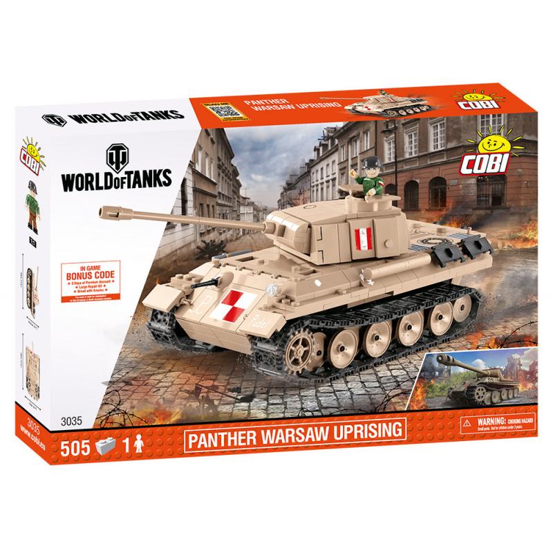 COBI 3035 World of Tanks Střední tank Panther Varšavské povstání