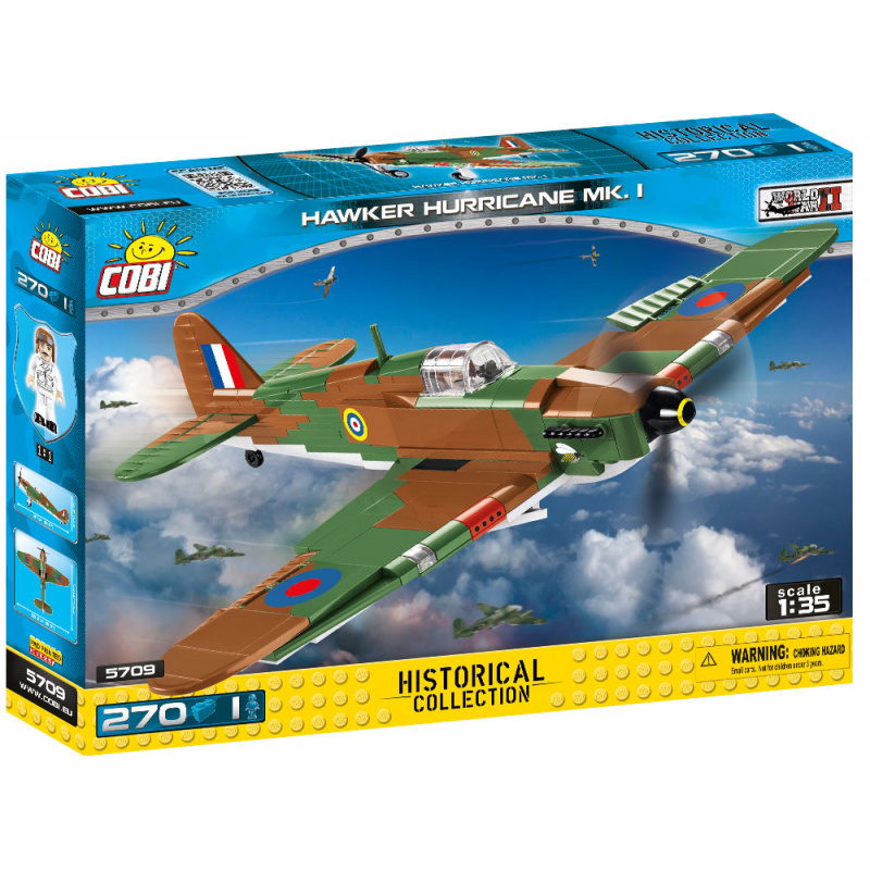 COBI 5709 II WW Hawker Hurricane Mk I, 1:35, 270 k, 1 f