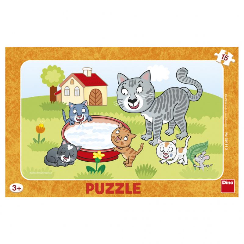 Puzzle 15 kawałków planszy Koty