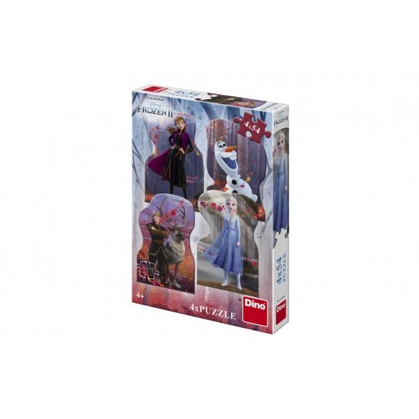 Puzzle 4v1 Ledové království II/Frozen II 4x54 dílků v krabici 19x27,5x4cm