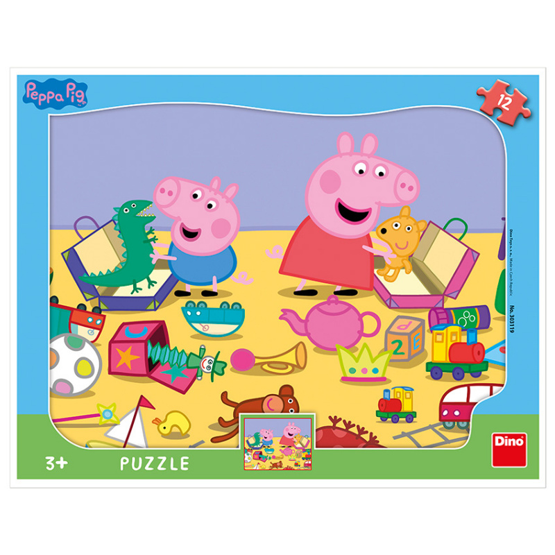 PEPPA PIG PLAYS Puzzle 12 kształtów plansz