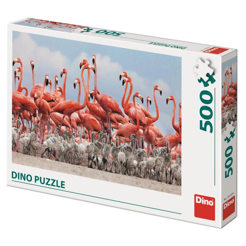 Dino Puzzle Plameniaky 500 dielikov
