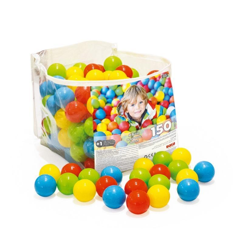 150 barevných plastových míčků v tašce se zipem - 6cm