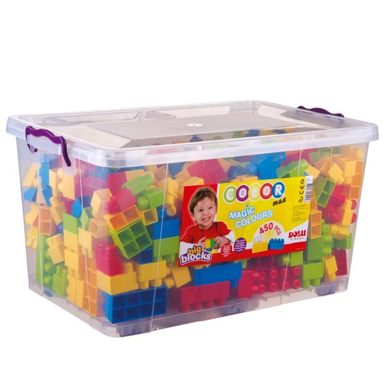 Veľké kocky v plastovom boxe, 450ks