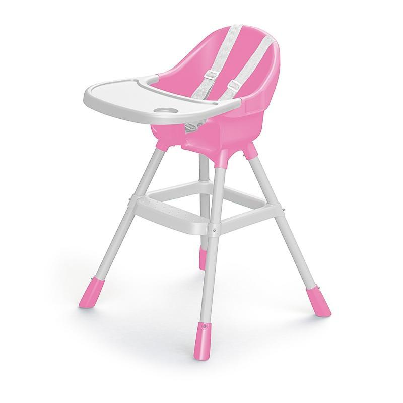 Dětská jídelní židlička růžová