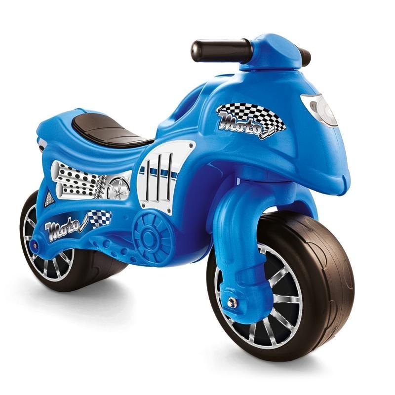 Odrážedlo motorka modrá