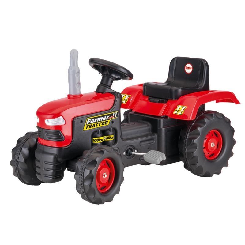 Velký šlapací traktor,červený