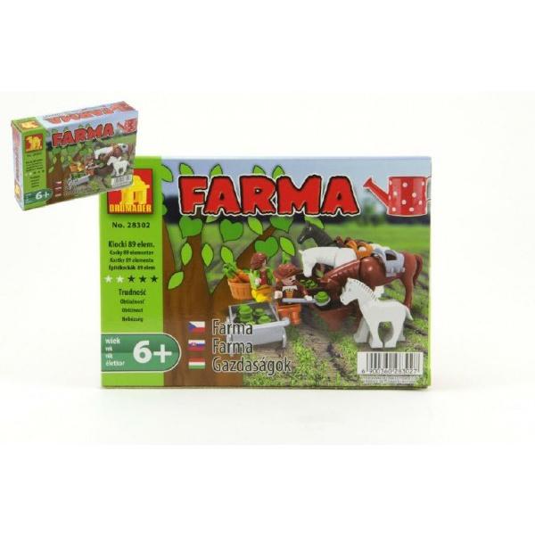 Stavebnice Dromader Farma 28302 89ks v krabici 18,5x13x4,5cm