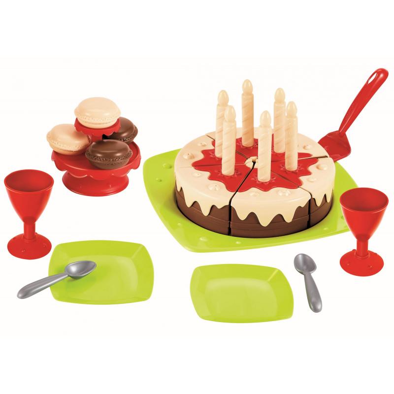 Tort urodzinowy z akcesoriami
