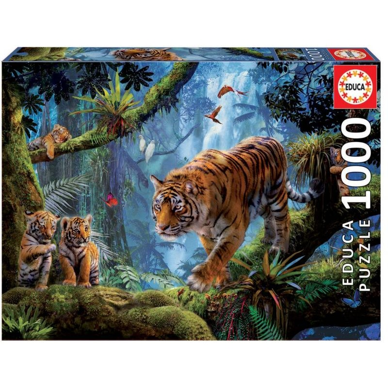 Puzzle 1000 dílků - Tygr na stromě