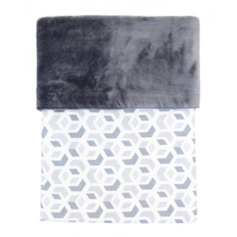 Deka MIMI 3D kostka šedá + Velvet šedý