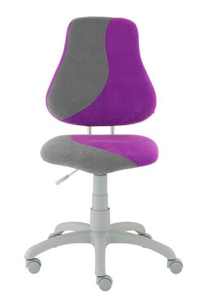 Rostoucí židle Fuxo S Line Suedine fialovo-šedá 264